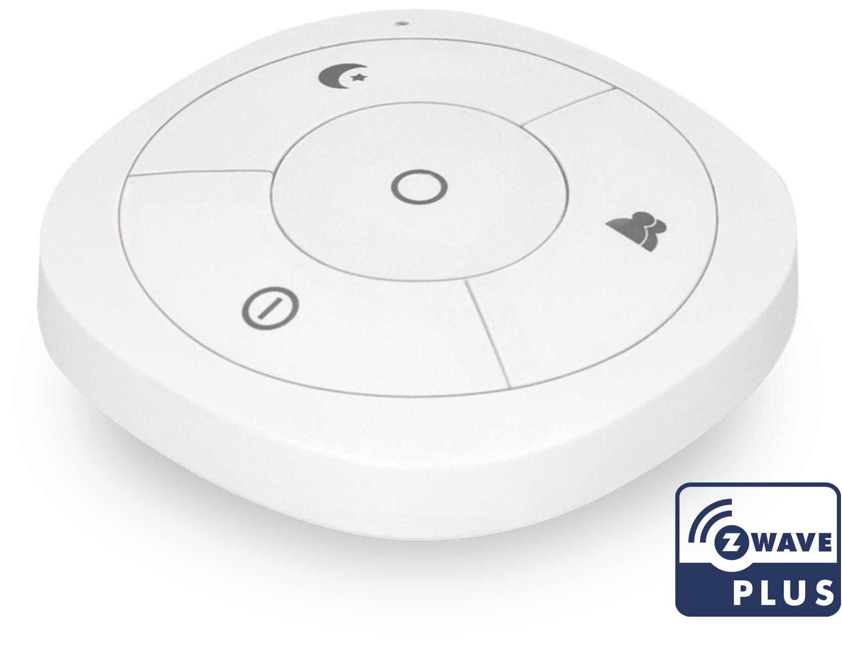 Smart-Home-Fernbedienung mit Z-Wave Plus.